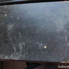 Coleccionismo: ANTIGUA CARPETA DE SOBREMESA ESCOLAR CON MAPA DE ESPAÑA Y CALENDARIO PERPETUO 1896-1900. Lote 177779649