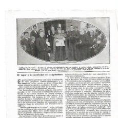 Coleccionismo: AÑO 1916 RECORTE PRENSA GARRALDA NAVARRA INAUGURACION BENDICION DE LA NUEVA IGLESIA. Lote 178256686