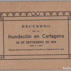 Coleccionismo: CARTAGENA.(MURCIA).- INUNDACIÓN DE CARTAGENA 1919 RECUERDO. FOTOGRAFÍAS OBTENIDAS 12 HORAS DESPUÉS. . Lote 178278023