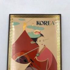 Coleccionismo: CUADRO COBRE LACADO SOBRE MADERA KOREA. Lote 178313336