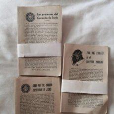 Coleccionismo: LOTE DE PAMFLETOS RELIGIOSOS. ED. EL MENSAJERO DEL CORAZÓN DE JESÚS. BILBAO. Lote 178351283