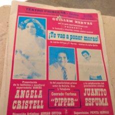 Coleccionismo: PROGRAMA TEATRO PRINCESA VALENCIA 1978 - GUILLEM HERVÁS - ÁNGELA CRISTELL - CONRADO TORTOSA PIPPER -. Lote 178741171