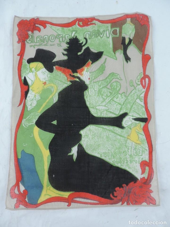 Coleccionismo: PAÑUELO DE PUBLICIDAD DE DIVAN JAPONAIS, 15 RUE DES MARAYRS, ED FOURNIER DIRECTEUR, MIDE 33 X 26 CMS - Foto 2 - 178750847