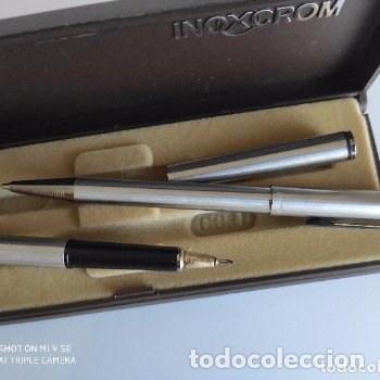 Coleccionismo: juego de boligrafo y rotring INOXCROM años 80 - Foto 2 - 178753307