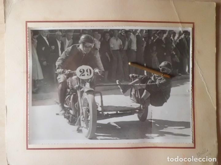 Coleccionismo: ESPECTACULAR FOTO CARRERA DE SIDECAR, POSGUERRA - Foto 2 - 178976892