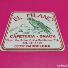 Coleccionismo: POSAVASO BAR EL MILANO . Lote 178995898