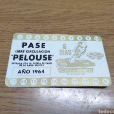 Coleccionismo: RARO PASE ENTRADA 1964 6 DÍAS Y NOCHES CICLISMO PELOUSE PALACIO DE DEPORTES MADRID. Lote 179103446