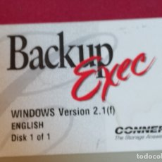 Coleccionismo: DISQUETTE BACKUP EXEC WINDOWS VERSION 2.1 1994. Lote 179134650