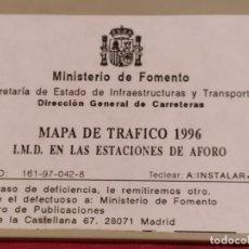 Coleccionismo: DISQUETTE MAPA DE TRAFICO 1996 MINISTERIO DE FOMENTO. Lote 179135727
