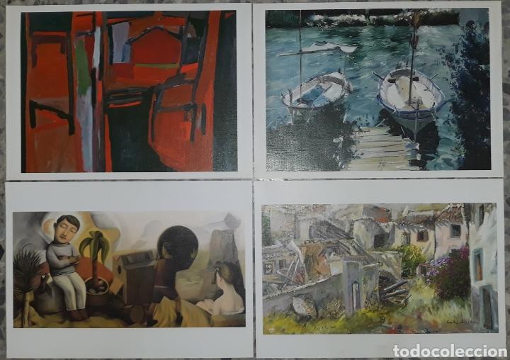 LOTE 4 LÁMINAS CUADROS FAMOSOS (Coleccionismo - Laminas, Programas y Otros Documentos)