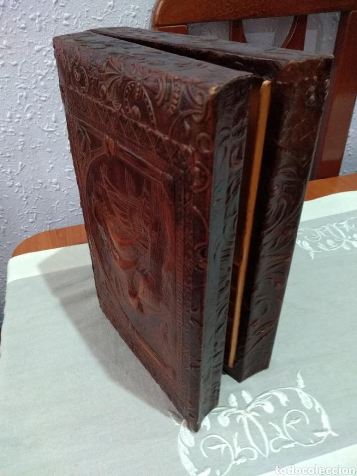 Coleccionismo: ANTIGUA ( CAJA DE PUROS EN MADERA Y CUERO REPUJADO ). MÁS ARTÍCULOS ANTIGUOS MI PERFIL - Foto 14 - 179174473