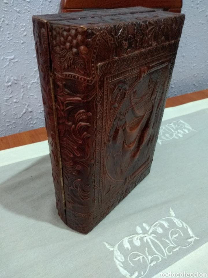 Coleccionismo: ANTIGUA ( CAJA DE PUROS EN MADERA Y CUERO REPUJADO ). MÁS ARTÍCULOS ANTIGUOS MI PERFIL - Foto 15 - 179174473