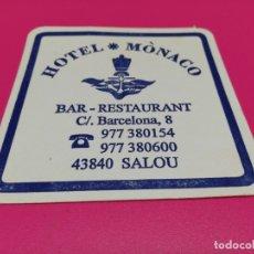Coleccionismo: POSAVASO HOTEL MONACO . Lote 179309233