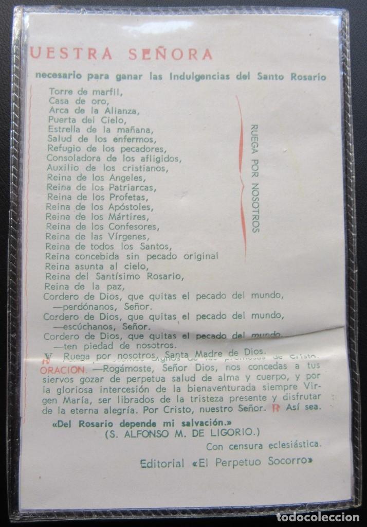 Coleccionismo: TRÍPTICO RELIGIOSO DE LA VIRGEN PLASTIFICADO - Foto 2 - 179555146