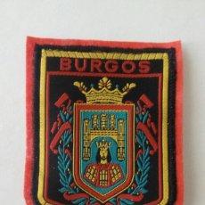 Coleccionismo: ESCUDO PARCHE BORDADO TELA FIELTRO SOUVENIR BURGOS CASTILLA LEÓN. Lote 179556550