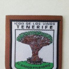 Coleccionismo: ESCUDO PARCHE BORDADO TELA FIELTRO SOUVENIR ICOD VINOS TENERIFE ISLAS CANARIAS. Lote 179556805