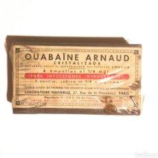 Coleccionismo: ANTIGUA CAJA DE MEDICAMENTO OUABAÏNE ARNAUD. Lote 179595787