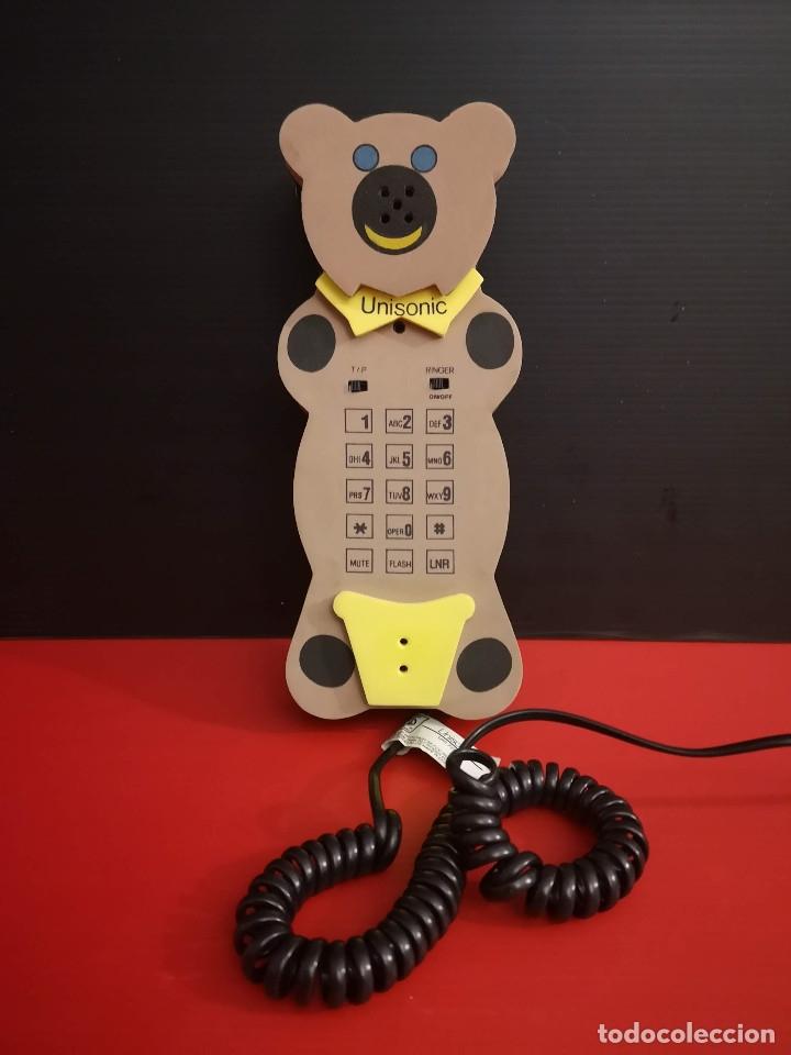ORIGINAL TELEFONO FIJO DE FORMA DE OSO OSITO HECHO EN GOMA EVA. FUNCIONANDO PERFECTAMENTE (Coleccionismo - Varios)