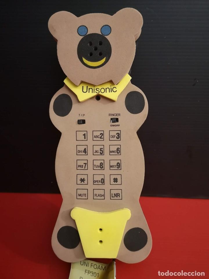 Coleccionismo: Original Telefono fijo de forma de oso osito hecho en goma eva. Funcionando perfectamente - Foto 5 - 179952845