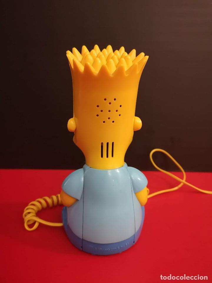Coleccionismo: Antiguo Teléfono fijo forma Bart Simpson de los Simpsons. Funcionando. Vintage. Años 90 - Foto 2 - 179955038