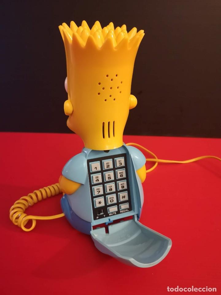 Coleccionismo: Antiguo Teléfono fijo forma Bart Simpson de los Simpsons. Funcionando. Vintage. Años 90 - Foto 3 - 179955038