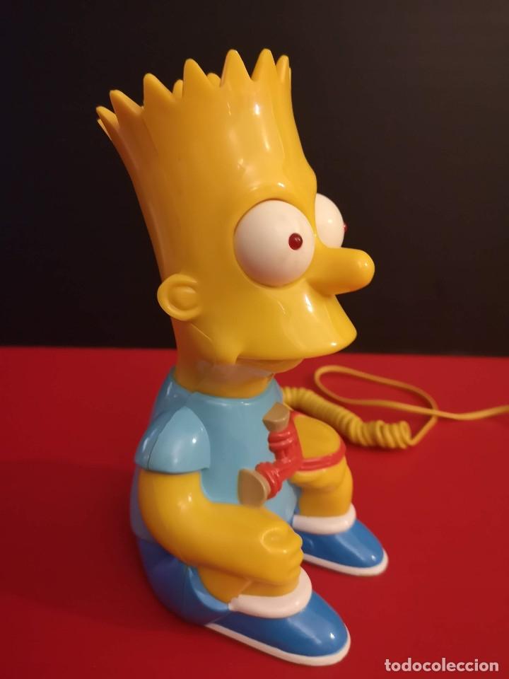 Coleccionismo: Antiguo Teléfono fijo forma Bart Simpson de los Simpsons. Funcionando. Vintage. Años 90 - Foto 4 - 179955038