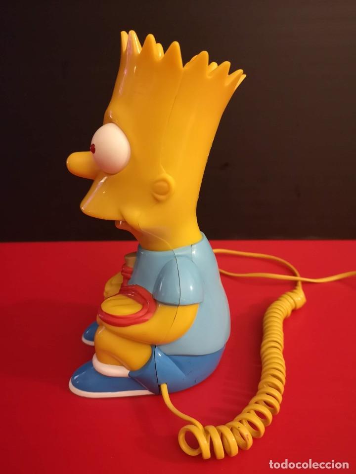 Coleccionismo: Antiguo Teléfono fijo forma Bart Simpson de los Simpsons. Funcionando. Vintage. Años 90 - Foto 5 - 179955038