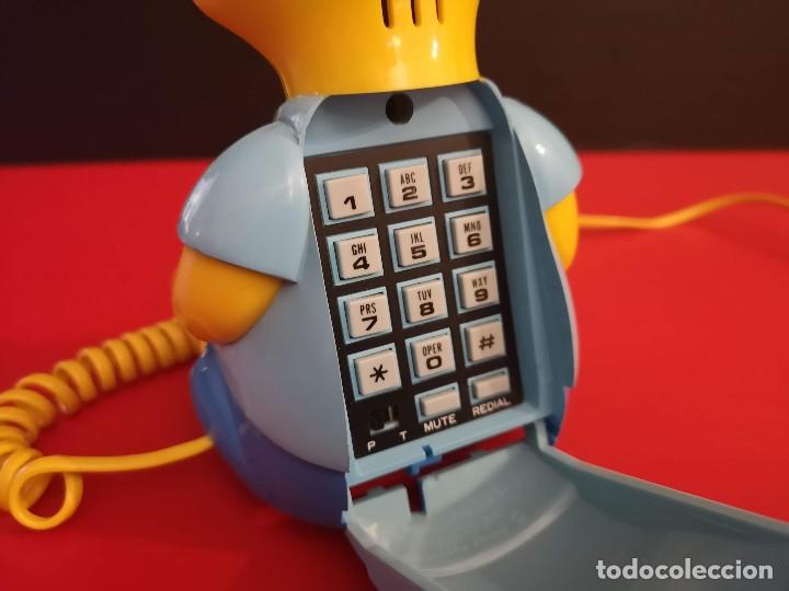 Coleccionismo: Antiguo Teléfono fijo forma Bart Simpson de los Simpsons. Funcionando. Vintage. Años 90 - Foto 6 - 179955038