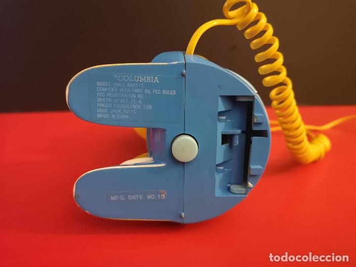 Coleccionismo: Antiguo Teléfono fijo forma Bart Simpson de los Simpsons. Funcionando. Vintage. Años 90 - Foto 9 - 179955038
