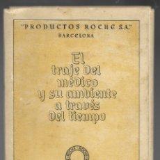 Coleccionismo: EL TRAJE DEL MEDICO Y SU AMBIENTE A TRAVES DEL TIEM PO. ROCHE, COMPLETA CON 11 LAMINAS DIPTICOS.. Lote 180030283