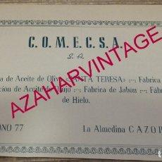 Coleccionismo: CAZORLA, ANTIGUA PUBLICIDAD FABRICA DE ACEITE SANTA TERESA, RETAL DE REVISTA. Lote 180084966