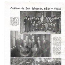 Coleccionismo: AÑO 1932 RECORTE PRENSA SAN SEBASTIAN ORFEON IRUNES GANADOR PREMIO HONOR CONCURSO ORFEONES VASCOS. Lote 180093437