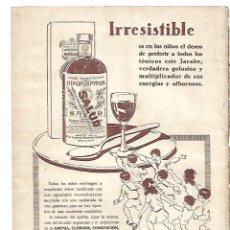 Coleccionismo: AÑO 1932 RECORTE PRENSA PUBLICIDAD JARABE HIPOFOSFITOS SALUD RECONSTITUYENTE. Lote 180095257