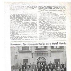 Coleccionismo: AÑO 1933 RECORTE PRENSA BARCELONA EJERCICIOS ESPIRITUALES EN HOTEL FLORIDA TIBIDABO. Lote 180107641