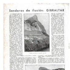 Coleccionismo: AÑO 1933 RECORTE PRENSA GIBRALTAR PEÑON CIUDAD. Lote 180107733