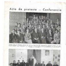 Coleccionismo: AÑO 1933 RECORTE PRENSA MANRESA CONFERENCIA PEDRO TARRES CLARET FEDERACION JOVENES CRISTIANOS. Lote 180108043