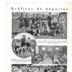 Coleccionismo: AÑO 1933 RECORTE PRENSA DEPORTES BILBAO EQUIPO DE FUTBOL DEL INSITUTO VIZCAINO SAN MAMES. Lote 180108263
