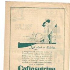 Coleccionismo: AÑO 1933 RECORTE PRENSA PUBLICIDAD CAFIASPIRINA BAYER PRODUCTOS FAMACEUTICOS. Lote 180108345