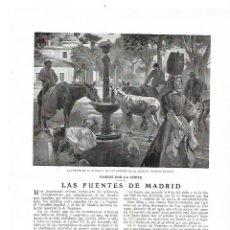 Coleccionismo: AÑO 1914 LAS FUENTES DE MADRID ALCACHOFA FUENTECILLA DELFINES APOLO CIBELES NEPTUNO PUERTA DEL SOL. Lote 180110255