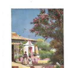 Coleccionismo: AÑO 1914 RECORTE PRENSA PINTURA REPRODUCCION SEVILLA JARDIN DE LAS ADELFAS MANUEL GARCIA RODRIGUEZ. Lote 180110523
