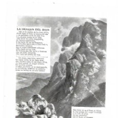 Coleccionismo: AÑO 1914 RECORTE PRENSA POESIA LA IMAGEN DEL BIEN POR RAFAEL TORROME DIBUJO DE REGIDOR. Lote 180110651