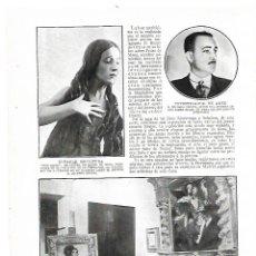 Coleccionismo: AÑO 1914 RECORTE PRENSA ESCULTURA MAGDALENA PEDRO DE MENA EXPOSICION OLEOS PINTOR NESTOR. Lote 180111098