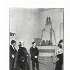 Coleccionismo: AÑO 1914 RECORTE PRENSA ESCULTURA MIRANDA JULIO ANTONIO MONUMENTO LAS AMERICAS VISITA INFANTA ISABEL. Lote 180111273
