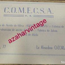 Coleccionismo: CAZORLA, ANTIGUA PUBLICIDAD FABRICA DE ACEITE SANTA TERESA, RETAL DE REVISTA. Lote 180119281