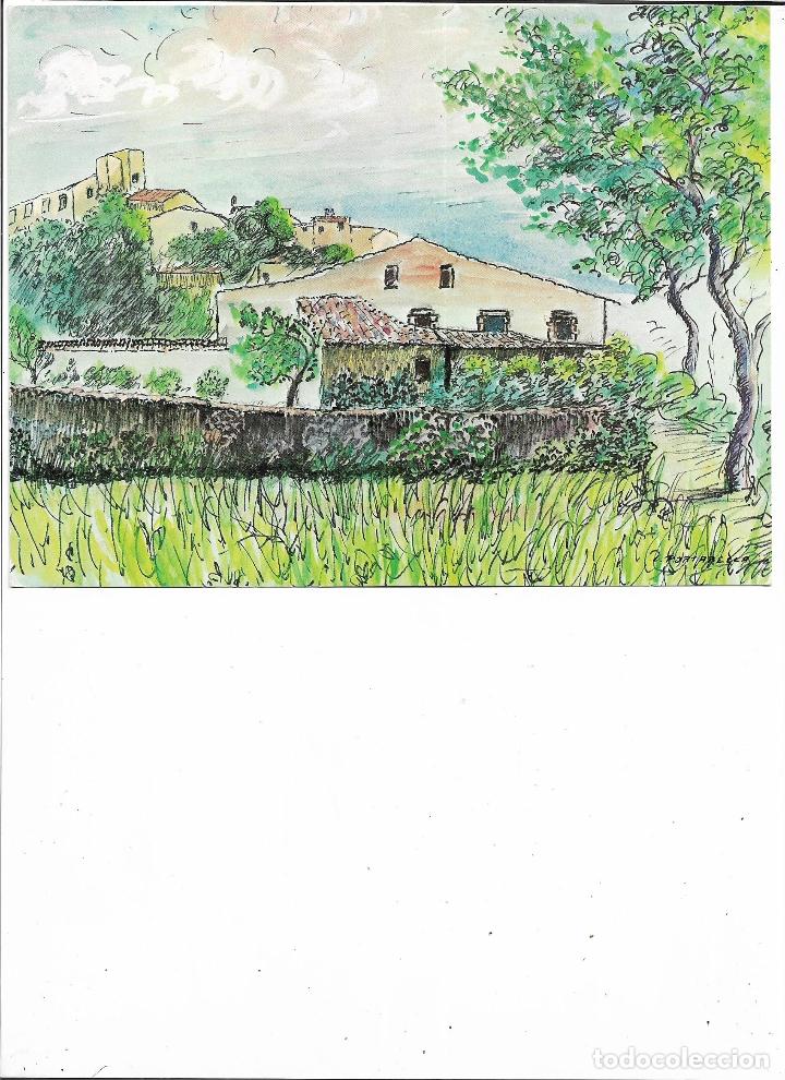 Coleccionismo: ANTIGUA LAMINA FELICITACION NAVIDAD DE DANONE - CASTELL DE L´EMPORDA - GIRONA - L. PORTABELLA - Foto 2 - 180127687