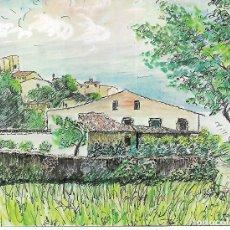 Coleccionismo: ANTIGUA LAMINA FELICITACION NAVIDAD DE DANONE - CASTELL DE L´EMPORDA - GIRONA - L. PORTABELLA. Lote 180127687