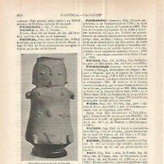 Coleccionismo: LAMINA ESPASA 32807: URNA FUNERARIA DE LA ISLA DE PACOVAL. Lote 180134613