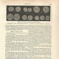 Coleccionismo: LAMINA ESPASA 33749: MONEDAS VALENCIANAS DE ALFONSO V DE ARAGON. Lote 180146303