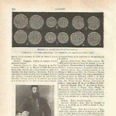 Coleccionismo: LAMINA ESPASA 33750: MONEDAS DEL INFANTE ALFONSO DE CASTILLA. Lote 180146312