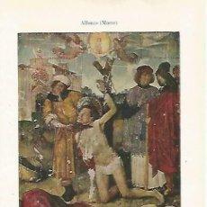 Coleccionismo: LAMINA ESPASA 33751: MARTIRIO DE SAN MEDI, POR MAESE ALFONSO. Lote 180146315